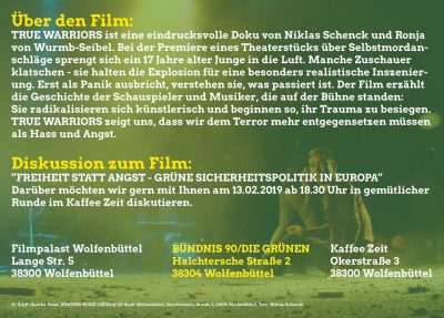 "Der GRÜNE Film ""True Warriors"" @ Filmpalast"