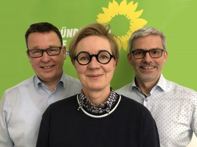 Jürgen Selke-Witzel (legt sein Ratsmandat nieder), Ulrike Krause (Fraktionsvorsitzende), Stefan Brix (stellvertretender Fraktionsvorsitzender)